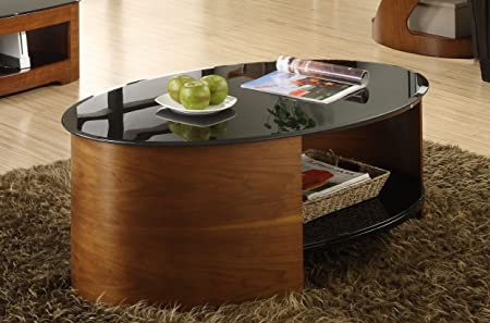 Jual JF301 Walnut Curved Coffee Table