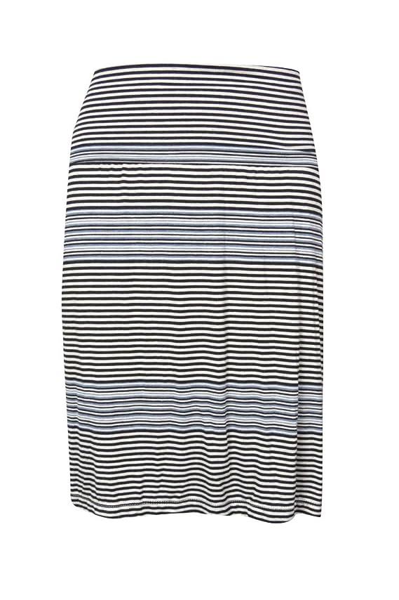 Studio M Womens Fold Over Striped Knit Skirt