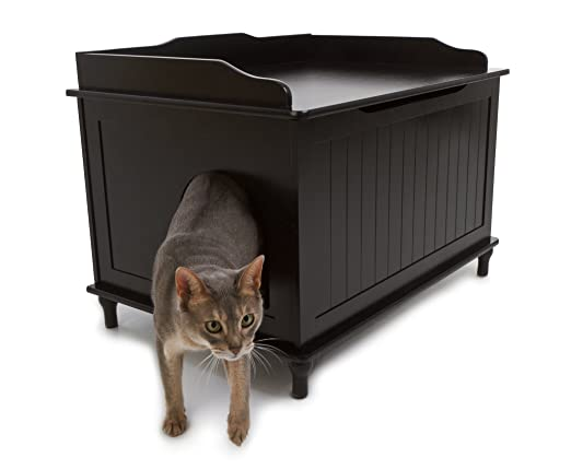 Amazon.com : Designer Catbox Litter Box Enclosure in Black : Cat Litter Boxes : Pet Supplies