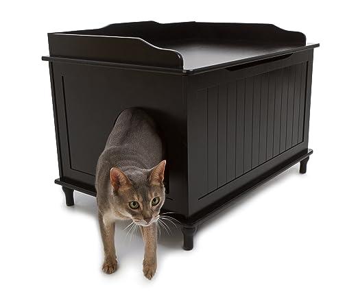 Amazon.com : Designer Catbox Litter Box Enclosure in Black : Cat Litter Boxes : Pet Supplies