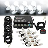 Ediors 160w 8 HID Bulbs Hide-a-way Emergency Caution Security Hazard Warning Headlight Strobe Lights Kit System