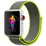 INTENY Sport Band Compatible for Apple Watch 42mm, Breathable Nylon Sport Loop, Strap Compatible for iWatch Series 3, Series 2, Series 1 (Flash, 42mm) (Color: Flash, Tamaño: 42 mm)