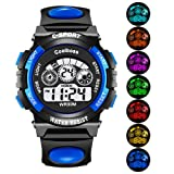EOBP Kid Watch for Child Boy Girl LED Multi Function 30M Waterproof Sport Outdoor Digital Waterproof Alarm Children's Watch (Blue)