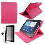 Rose Pink PU Leather Cover Case Protector & Stand for Alcatel 1T10 10'', 10.1'' Tablet PC + Screen Protector and Stylus Pen (Color: Rose Pink)