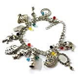 Alice Charm Wonderland Bracelet - Jewelry Merchandise Gifts Collection Women (Color: Wonderland Alice Charm Bracelet 1, Tamaño: One Size)
