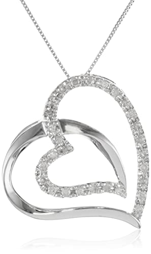10k-White-Gold-Diamond-Double-Heart-Pendant-Necklace-1-4-cttw-I-J-Color-I2-I3-Clarity-18-