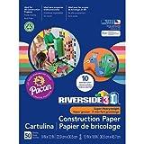 Riverside 3D Construction Paper, 10 Assorted Colors, 9