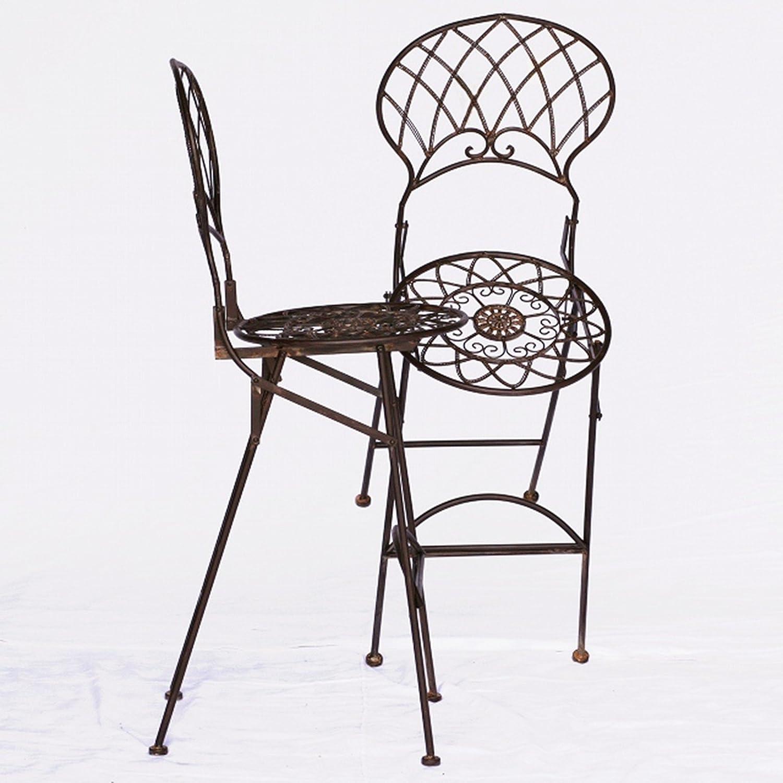 Bar Möbel Outdoor Metall Barstühle Gartenmöbel 2er Set braun 2 hohe Bar Stühle jetzt kaufen