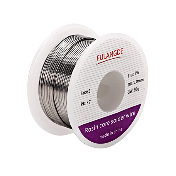 EULANGDE 63-37 Tin Lead Rosin Core Solder Wire with High Fluidity and Gloss and to Nice Shiny Joints For Electrical Soldering 0.5mm 0.6mm 0.8mm 1.0mm 50g 100g 1lb (1.0mm/50g) (Tamaño: 1.0mm/50g)