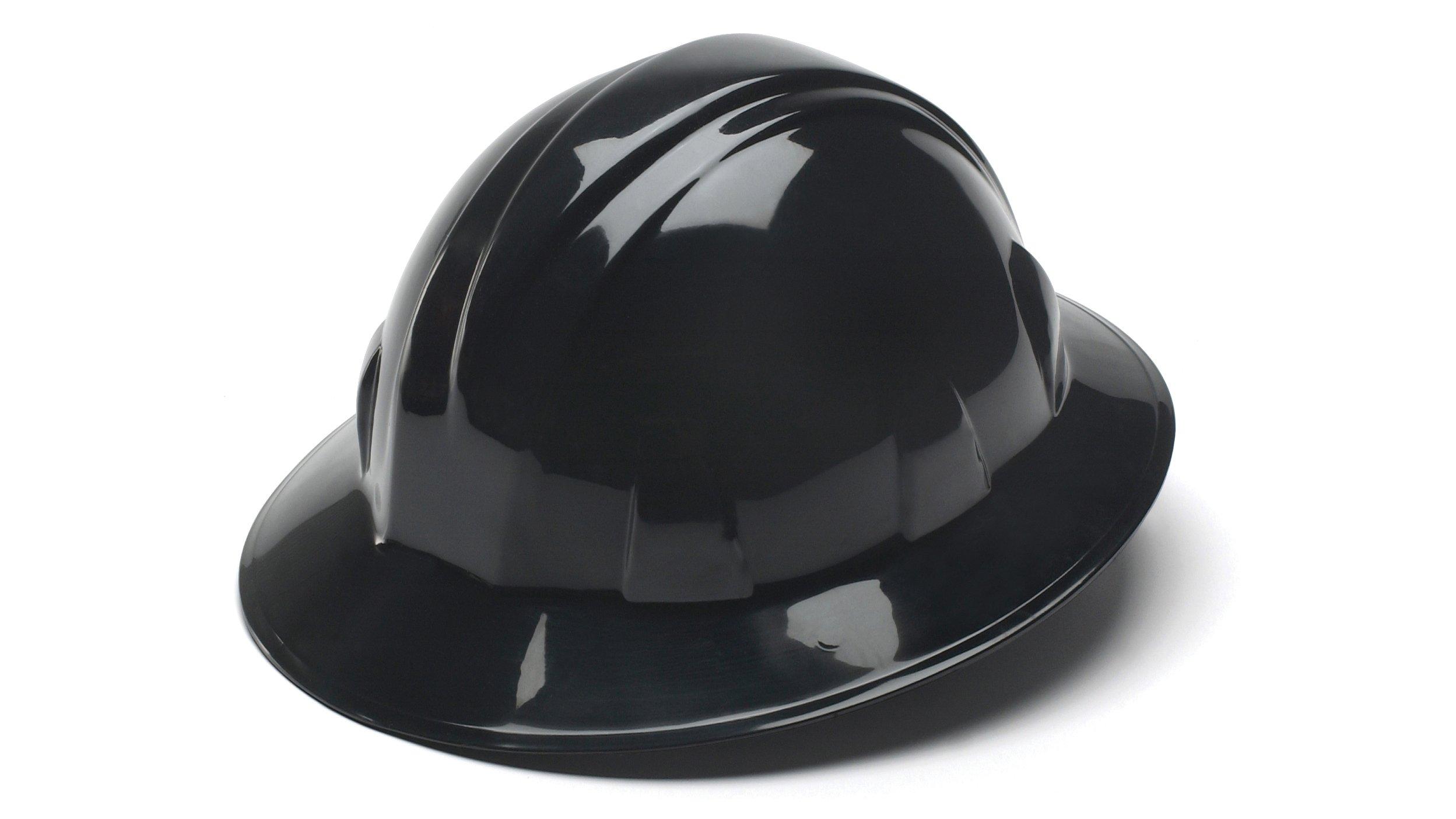 pyramex full brim style 4 point ratchet suspension hard hat black chickadee solutions. Black Bedroom Furniture Sets. Home Design Ideas