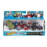 Hot Wheels Marvel Avengers Die-Cast Vehicle, 5-Pack (Tamaño: 5-Pack)