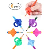 JARLINK Pencil Grips for Kids Handwriting, Aid Grip Trainer Posture Correction Finger Grip for Kids, Adults, Arthritis Designed for Righties or Lefties (6PCS) (Color: Multicolored)