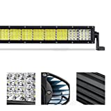 Quakeworld 72W 12 Inch Cree Led Light Bar 7200Lm Combo Beams 24Pcs 3W Chips Waterproof IP67 For Off Road Jeep Ford Van Camper Wagon Atv Awd Suv 4Wd 4X4 Pickup Lights & Lighting Accessories