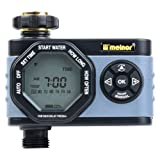 Melnor 53015 Single-Outlet Digital Water Timer, Simple and Flexible Programming, Easy Manual Override (Color: gray, Tamaño: 1 zone)