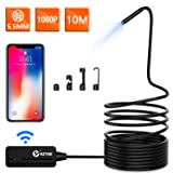 Wireless Endoscope, KZYEE 5.5mm Diameter 1080P 2.0 MP HD Semi-rigid WiFi Borescope Inspection Camera IP67 Waterproof Snake Camera for Android & IOS Smartphone Tablet-33FT (Color: 10M, Tamaño: 10M)