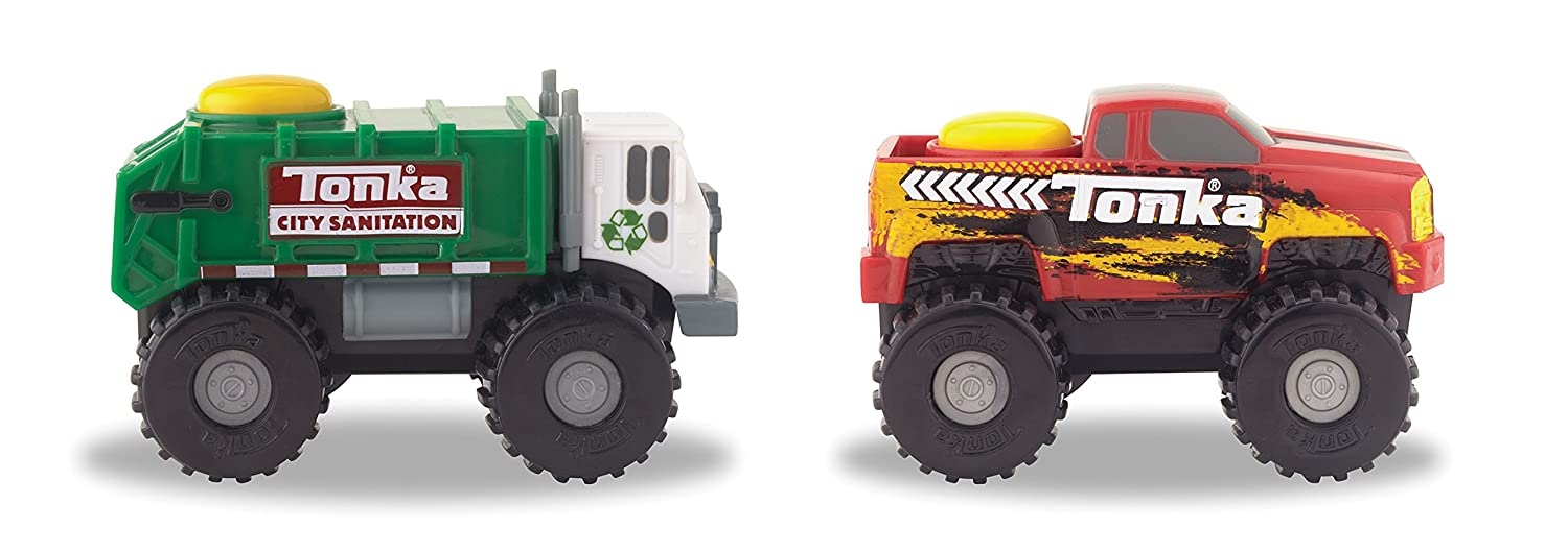 Tonka Climbovers Vehicle Garbage Truck and Pick Up Truck (2 Pack)