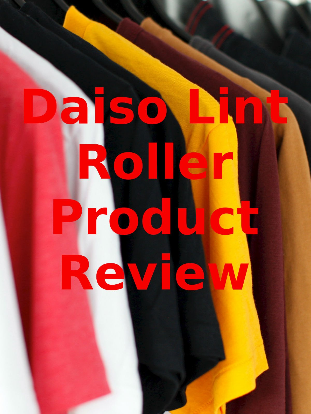 Review: Daiso Lint Roller Product Review