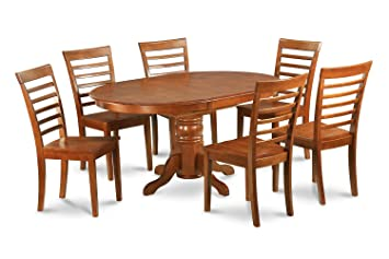East West Furniture AVML5-SBR-W 5-Piece Dining Table Set