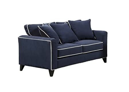 Furniture of America Verite Chenille Loveseat, 68-Inch, Eclipse