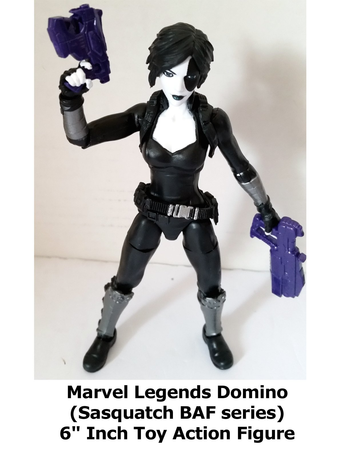 "Clip: Marvel Legends Domino (Sasquatch BAF series) 6"" Inch Toy Action Figure"