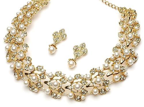 Gold Tone Jewelry Sets Usabride Gold-tone Jewelry Set