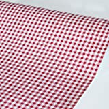 SimpleLife4U Red Holiday Gingham Contact Paper Self-Adhesive Shelf Liner Makeup Cabinet Decor 17.7 Inch By 9.8 Feet (Color: Multicolor)