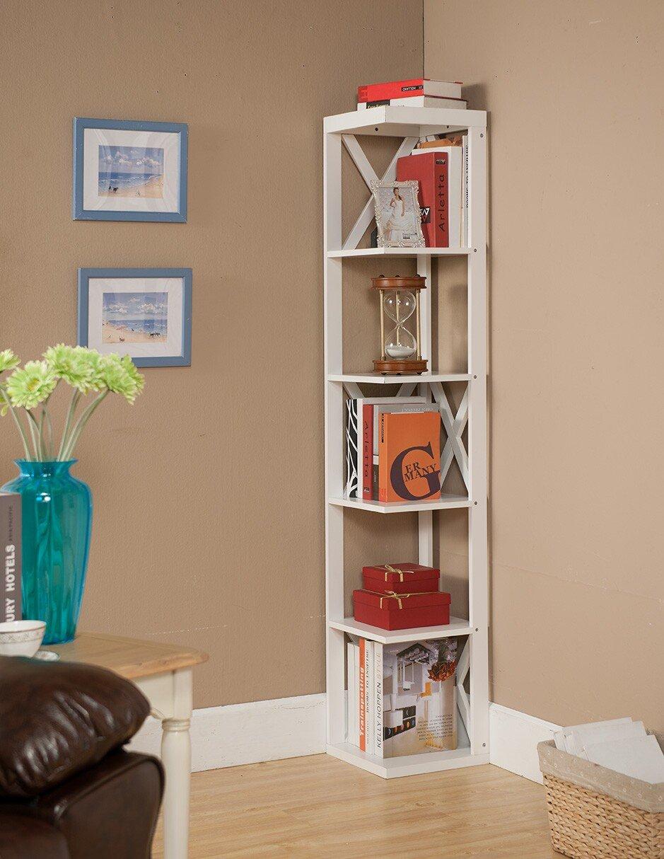 Corner Exhibition Stands Yard : Decorative bookshelf case for home corner ladder tree