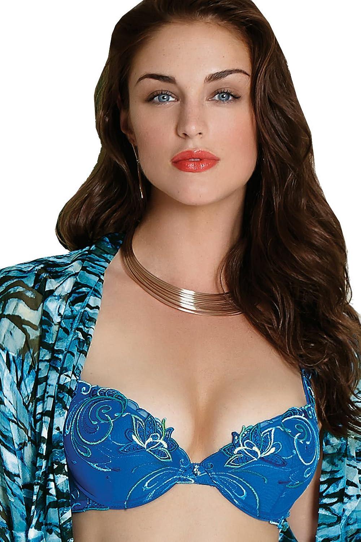 Lise Charmel BH push up Jardins de Turquoise blau Größe B75 günstig kaufen