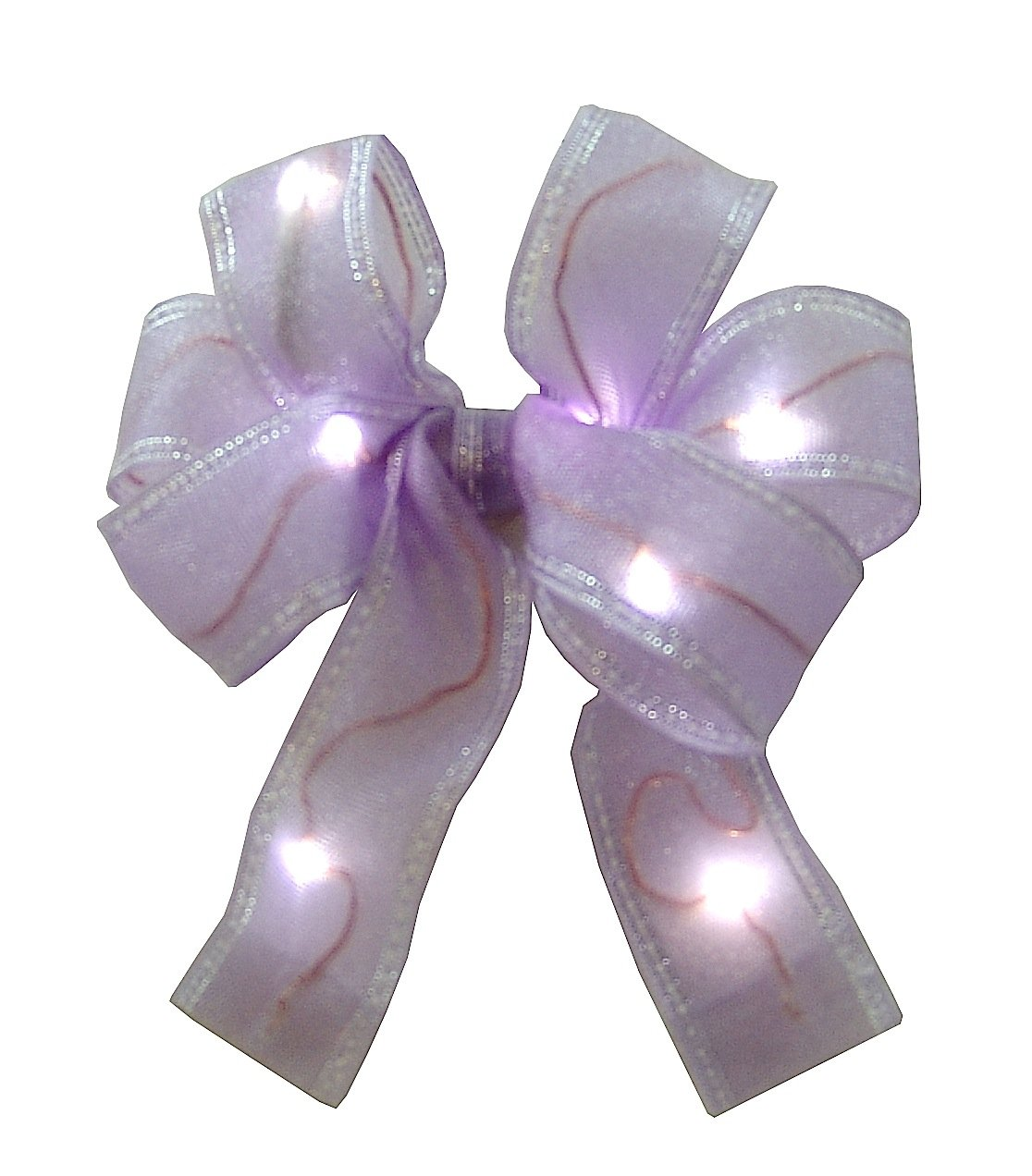Ribbon LED Lighted 6 Bow