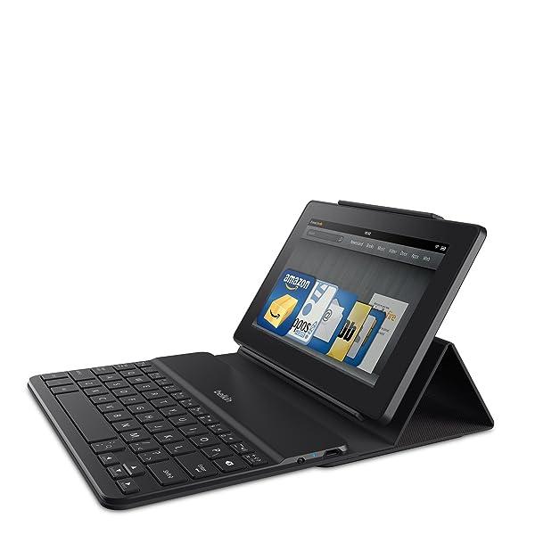 Belkin QODE Estuche portátil con teclado Bluetooth para el nuevo Kindle Fire HD 7 y HDX 7 (se adapta a ambos dispositivos)