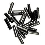 Shoelace Tip Head Bullet Metal Smooth Ends Aglet Repair Shoe Lace Tips Lock Clips Replacement For Paracord Shoes Clothes Lace DIY repairing(100Pcs, Ebony) (Color: Ebony, Tamaño: 100Pcs)