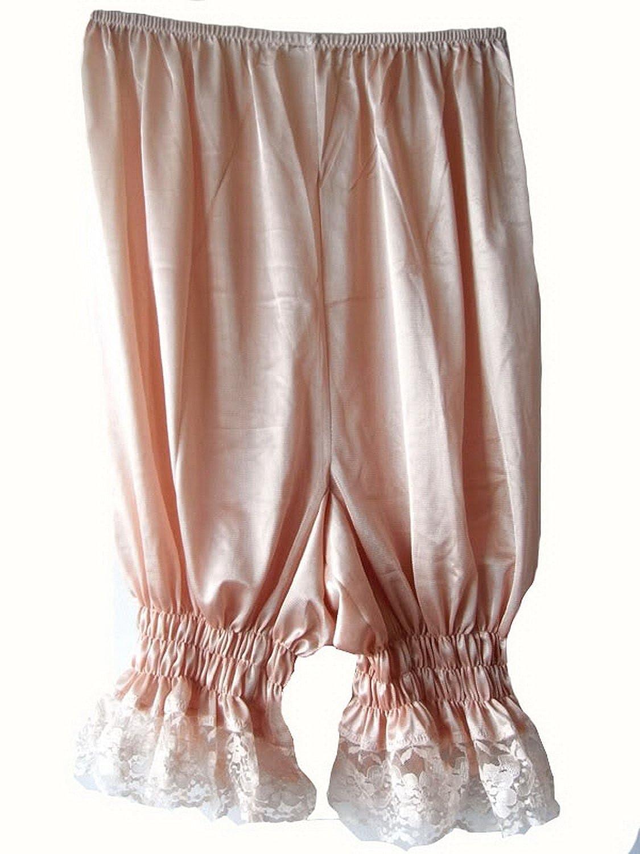 Frauen Handgefertigt Halb Slips UL3BW BROWN Half Slips Nylon Women Pettipants Lace günstig