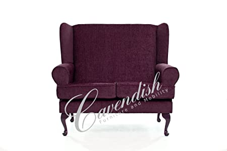 Cavendish Furniture Plum 2-Seat Sofa, Red