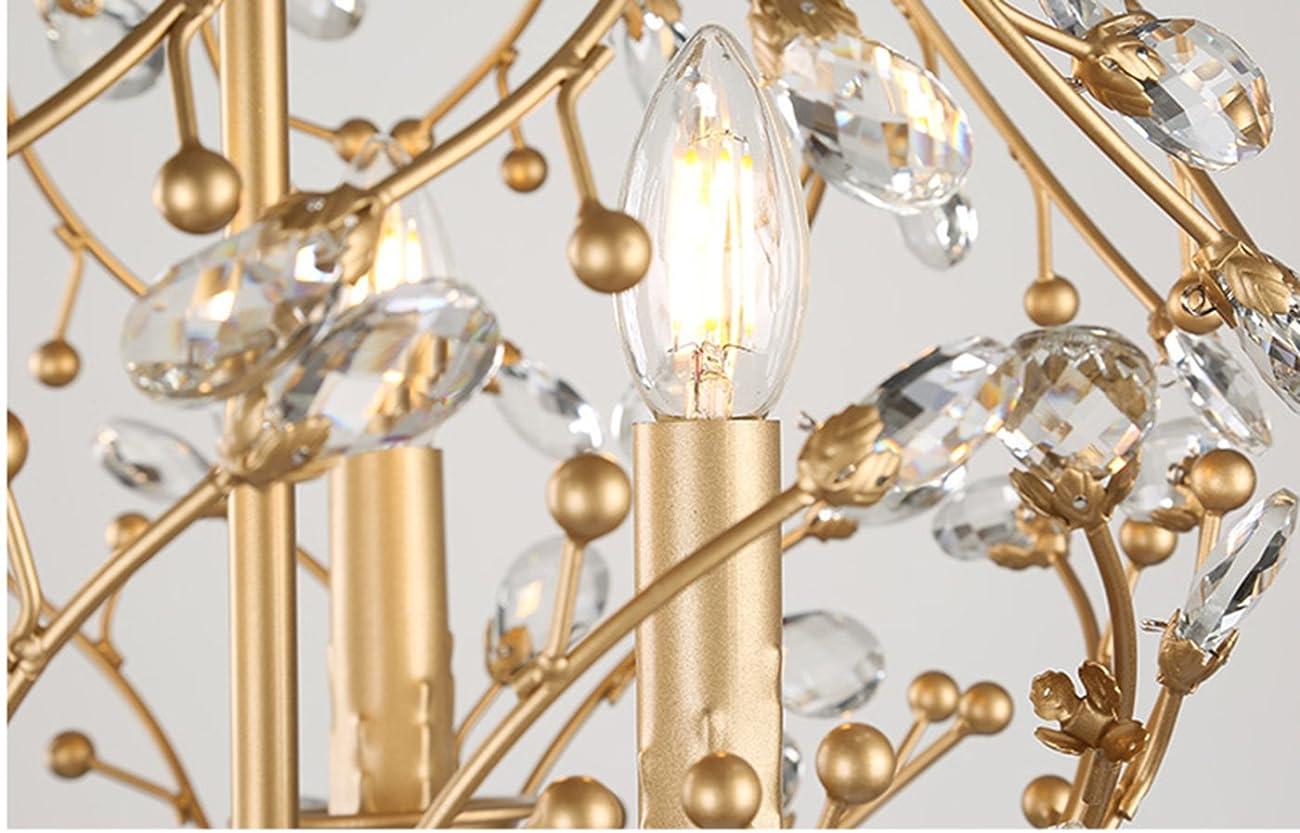 Garwarm Vintage Chandelier 3 lights Antique Pendant light Home Ceiling Light Fixtures Chandeliers Lighting,Golden 7