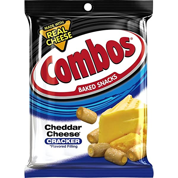 COMBOS Cheddar Cheese Cracker Baked Snacks 6.3-Ounce Bag (Pack of 12) (Tamaño: 6.3 Ounces)
