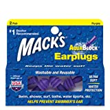 Macks AquaBlock Earplugs - Purple (2 pair)