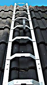 Dachleiter Aluminium 4,88 m Dachdeckerauflegeleiter 18 Sprossen, gewölbte Bremer Sprosse, nach EN 131, VBG 74 und ZH 1/367  BaumarktKundenbewertung und Beschreibung