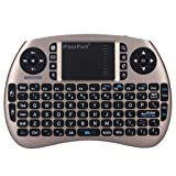 iPazzPort Wireless Mini Keyboard and Touchpad Mouse Combo for Raspberry Pi 3 / XBMC / Android and Google Smart TV Box KP-810-21S (Gold)