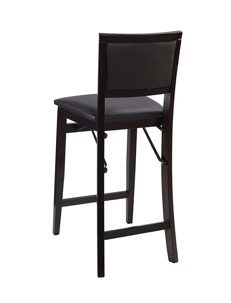 Linon Home Decor Keira Pad Back Folding Counter Stool 24 Inch