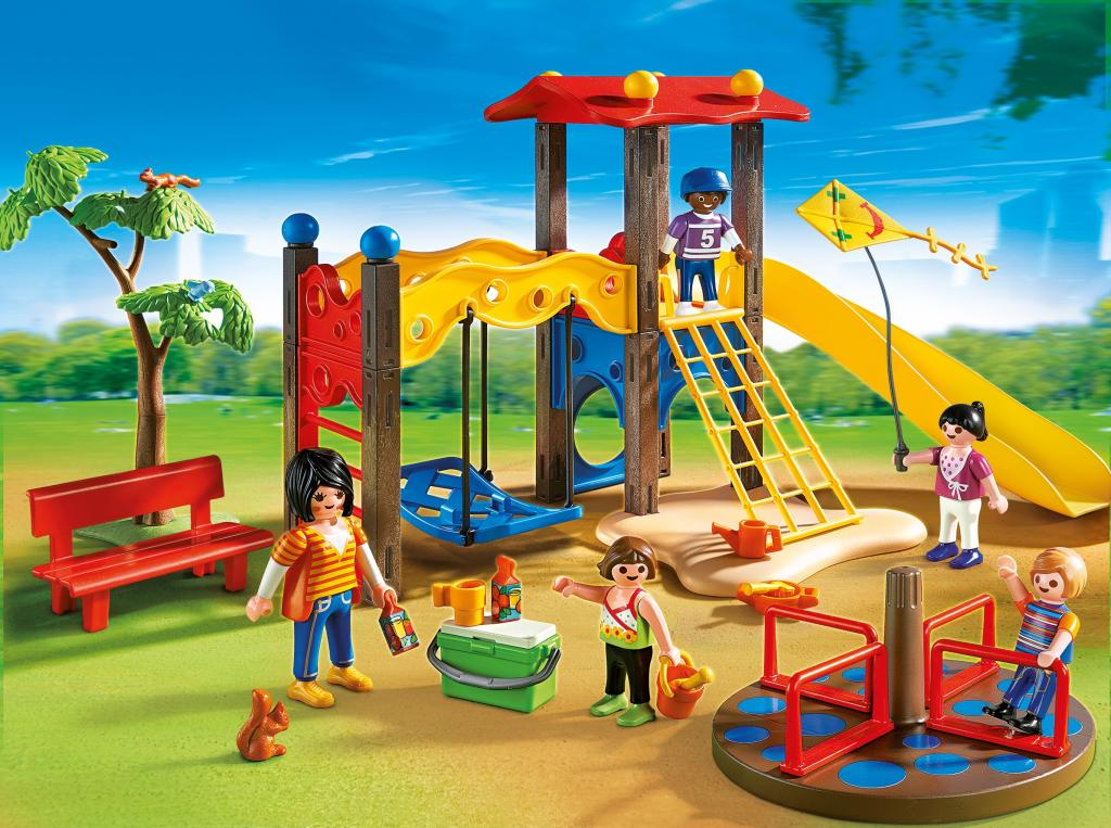 Amazon.com: PLAYMOBIL Playground Set: Toys & Games