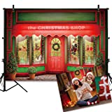 Allenjoy 7X5FT Green and Red Christmas Store Front Backdrop Santa Toys Display Xmas Day Warm Winter Decorations Family Party Background Photo Studio Booth Kids Photography Props (Color: Style10, Tamaño: Thin Vinyl 7X5FT)