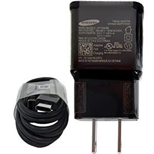Offical OEM Samsung Adaptive Fast Charging Black Charger - for Samsung Galaxy S8/S9/S10+/Note8/Note9 & W/Headset & Splitter (US Combo Retail Pack) (Color: C TYPE & Battery Kit)
