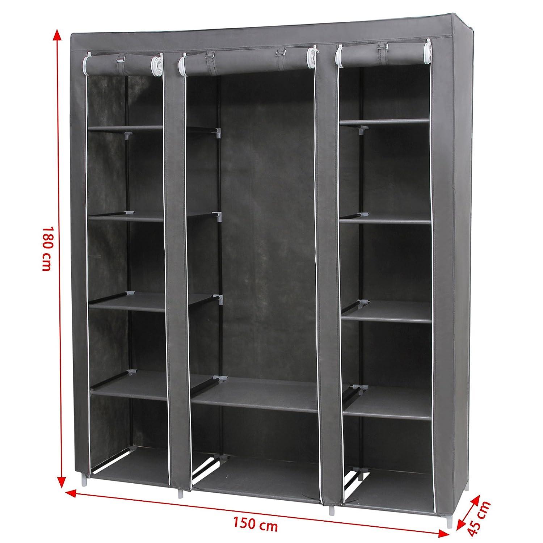 Armadio cabina guardaroba appendiabiti in acciaio tessuto - Appendiabiti per cabina armadio ...