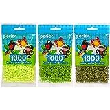 Perler Bead Bag 1000, 3-Pack - Sherbert, Fern & Olive (Color: Sherbert, Fern, Olive)