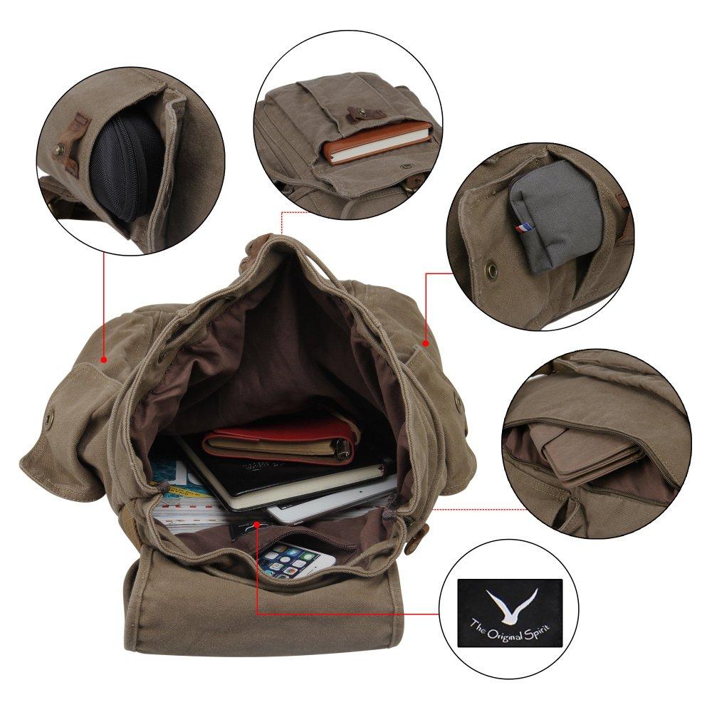 Hynes Eagle Retro Designer Canvas Backpack 28 Liter 4
