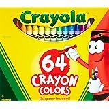 Crayola 2 Pack 64 Ct Crayons (52-0064) (Color: 1, Tamaño: Pack of 2)