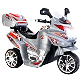 Costzon 3 Wheel Kids Ride On Motorcycle 6V Battery Powered Electric Toy Power Bicycle New (Color: Gray, Tamaño: 32