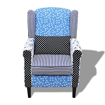 patchwork relax sessel armsessel country living stil. Black Bedroom Furniture Sets. Home Design Ideas