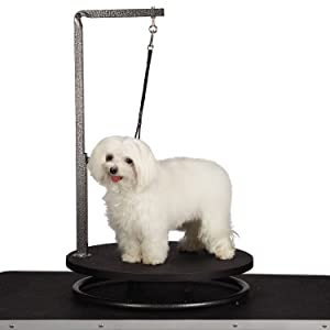 Pet Edge Master Equipment Round Pet Grooming Table - Rotatable Black 18 Diameter Grooming Table Perfect for Small Dogs (Color: Black, Tamaño: 23.5)