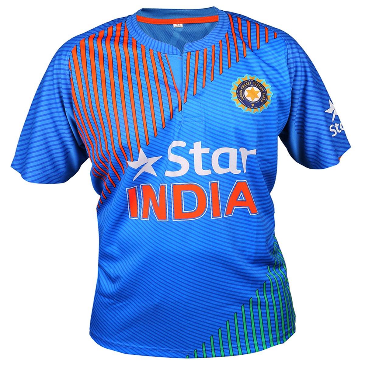 Yuva Cricket Team India ODI T20 World Cup Jersey Sachin Virat Dhoni 2016